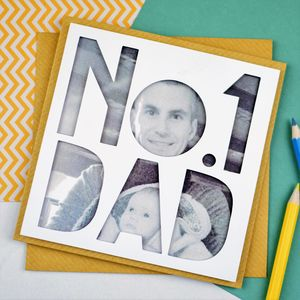 Personalised Photo Fathers Day Card 'Number One Dad'