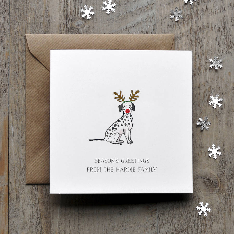 dalmation dog christmas card by honey tree publishing ...