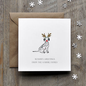Dalmation Dog Christmas Card - cards sent direct