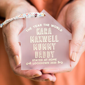 Personalised Family Lockdown 2021 Decoration