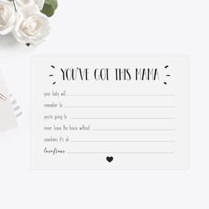 Baby Shower New Mum Advice Cards - shop by category