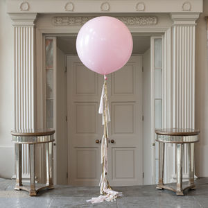 Baby Pink Tassel Tail Giant Balloon