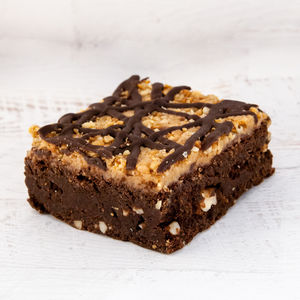 Peanut Butter Chocolate Brownie Duo - cakes & sweet treats