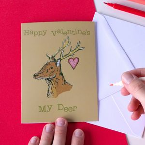 Woodland Deer Valentine's Card