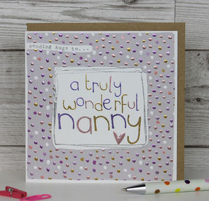 Card For A Nanny - birthday cards