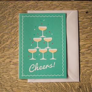 'Cheers!' Congratulations Celebration Greetings Card
