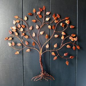 Copper Wire Tree Of Life Wall Art - sculptures