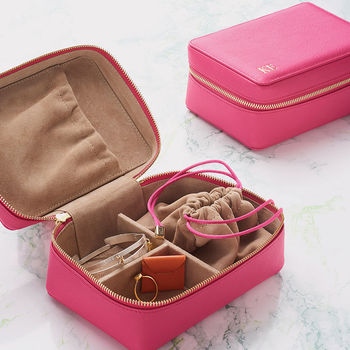 Luxury Soft Leather Jewellery Case For Travel