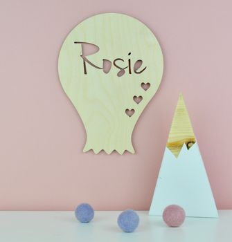 Personalised Nursery Door Sign Or Name Plaque Balloon