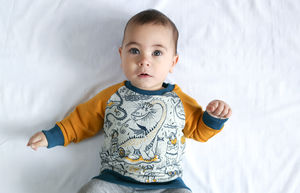 Organic Viking And Dragon Handmade Unisex Sweater - new in baby & child