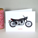 Norton Motorbike Greetings Card