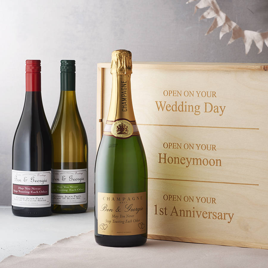 Wine As Wedding Gift: Personalised Wedding Wine Box By Intervino