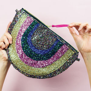 Rainbow Glitter Handbag - NYE party accessories