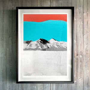 Ice Mountain. Fine Art Giclée Print - modern & abstract