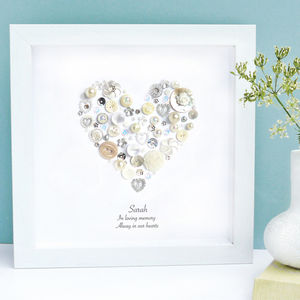 Personalised 'In Loving Memory' Pearl Framed Art - pictures, prints & paintings