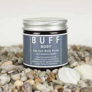 Buff Body Sea Salt Body Scrub Post Work Out Blend - shop by recipient