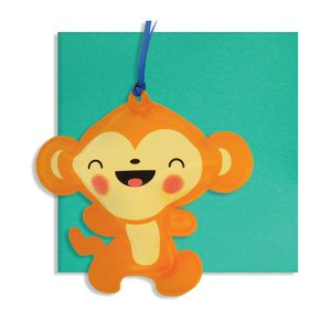 Monkey Inflatable Card