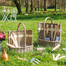 Personalised Set Of Two Gardening Tool Baskets