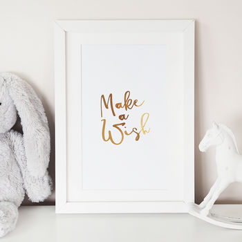 'Make A Wish' Foil Wall Art Print