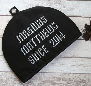 Tea Cosy Negative Space Mr And Mrs Wedding Anniversary - kitchen accessories