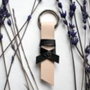 Handmade Leather 'Bow' Keyring