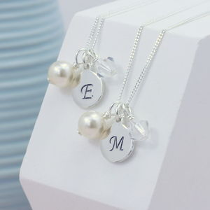 Personalised Bridesmaids Charm Necklace - wedding jewellery