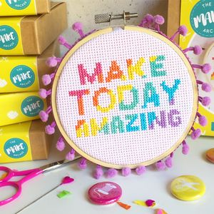 Make Today Amazing Cross Stitch Craft Kit