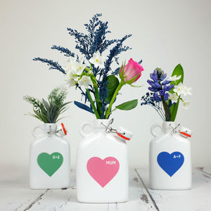 Heart Flask Vase With Personalisation