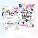 Small Floral Bloom Wedding Invitation