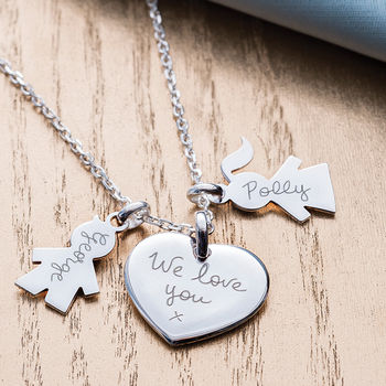 Personalised Family Charm Necklace