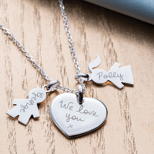 Personalised Family Charm Necklace - gifts for her