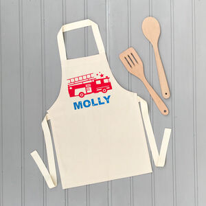 Fire Engine Personalised Children's Apron