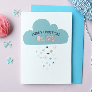 Personalised Snow Cloud Christmas Card