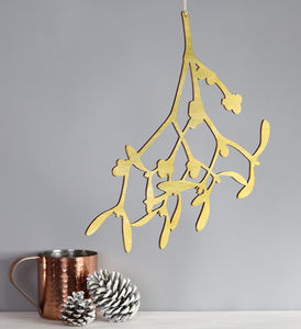 Hand Painted Hanging Alternative Mistletoe Decoration - christmas home accessories