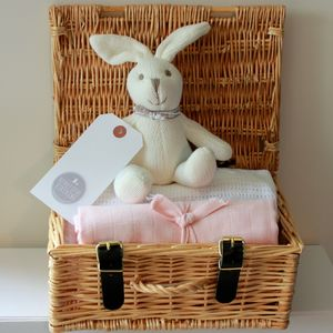 Baby Girl Hamper Gift - blankets, comforters & throws