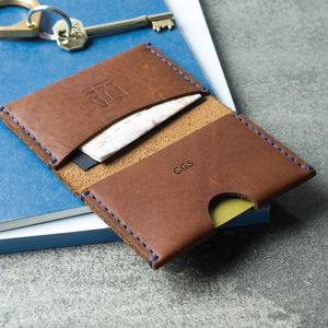 Personalised Leather Bi Fold Card And Note Wallet - gifts for him