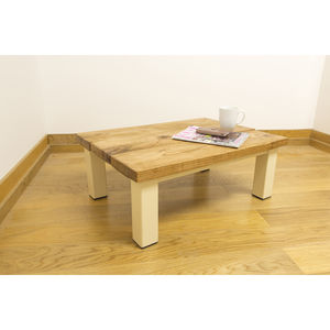 Oak And Iron Thin Coffee Table