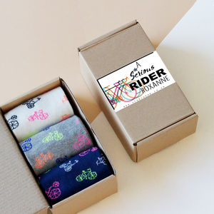 Personalised Bicycle Enthusiast Sock Box