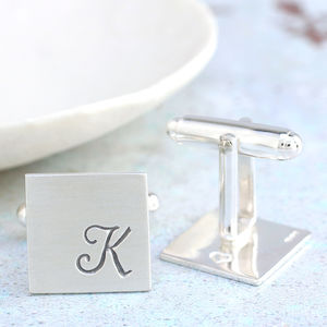 Personalised Italic Monogram Cufflinks - men's accessories
