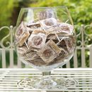 Personalised Rose Chocolate Lollipop Wedding Favours