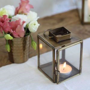 Brass Lantern Small And Medium - home accessories