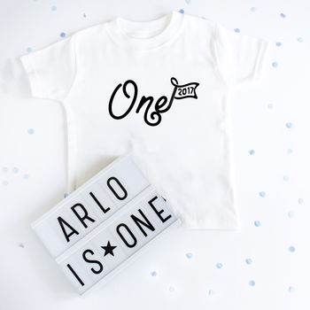 First Birthday Personalised Year T Shirt