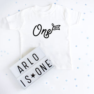 First Birthday Personalised Year T Shirt - clothing