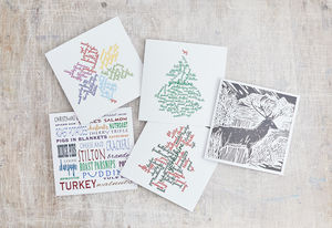Merry Yorkshire Christmas Card Pack Of Five - cards & wrap