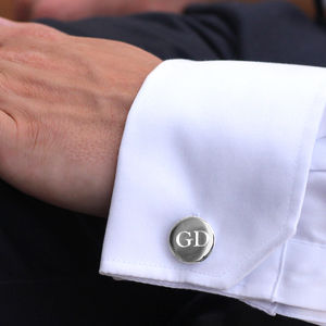 Secret Message Silver Cufflinks - mens