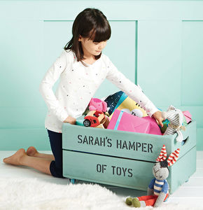 Personalised Wooden Storage Toy Box