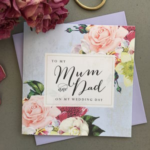 To My Mum And Dad Wedding Card | Country Floral - wedding stationery