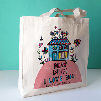 Personalised Dear Mum Canvas Bag