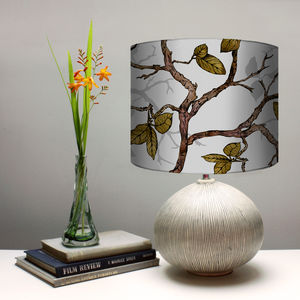 Inky Branches And Leaves Lampshade