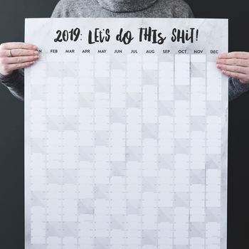 'Let's Do This Shit' 2019 Marble Wall Planner